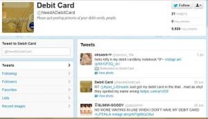 twitter debit cards